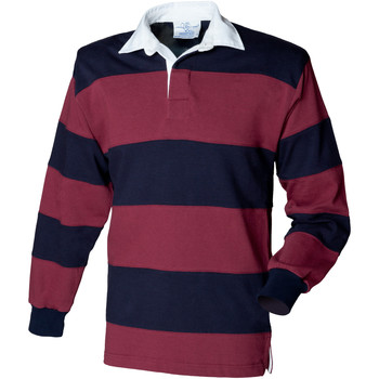 Textiel Heren Polo's lange mouwen Front Row Rugby Bourgogne/Navy