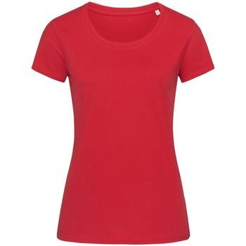 Textiel Dames T-shirts korte mouwen Stedman Stars Organic Rood