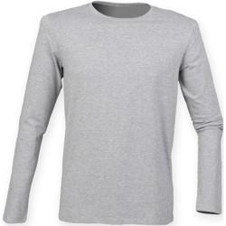 Textiel Heren T-shirts met lange mouwen Skinni Fit SF124 Heide Grijs