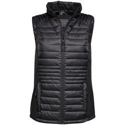 Textiel Heren Dons gevoerde jassen Tee Jays TJ9625 Zwart/Zwart