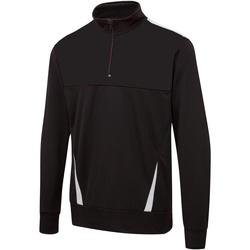 Textiel Heren Sweaters / Sweatshirts Surridge SU073 Zwart / Wit / Wit
