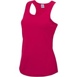 Textiel Dames Mouwloze tops Awdis Girlie Heet Roze
