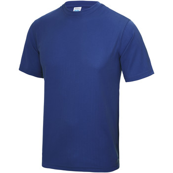 Textiel Heren T-shirts korte mouwen Just Cool Performance Koningsblauw