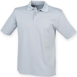 Textiel Heren Polo's korte mouwen Henbury Pique Zilvergrijs