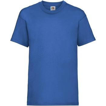 Textiel Kinderen T-shirts korte mouwen Fruit Of The Loom 61033 Royaal Blauw