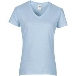 Textiel Dames T-shirts korte mouwen Gildan GD015 Lichtblauw