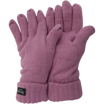 Accessoires Dames Handschoenen Floso Knitted Roze
