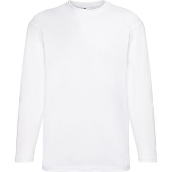 Textiel Heren T-shirts met lange mouwen Universal Textiles 61038 Sneeuw