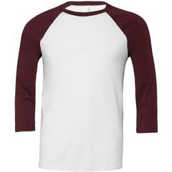 Textiel Heren T-shirts met lange mouwen Bella + Canvas Baseball Wit/Karoen
