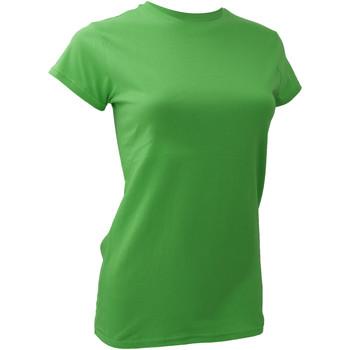 Textiel Dames T-shirts korte mouwen Anvil 379 Groene appel