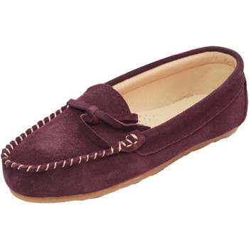 Schoenen Dames Sloffen Eastern Counties Leather Moccasin Pruim