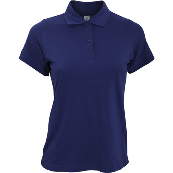 Textiel Dames Polo's korte mouwen B And C Safran Marine Blauw