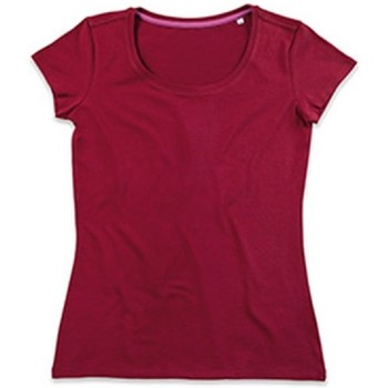 Textiel Dames T-shirts korte mouwen Stedman Stars Claire Bordeaux