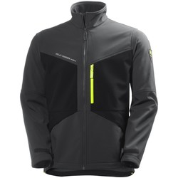 Textiel Heren Fleece Helly Hansen Softshell Leisteengrijs/zwart