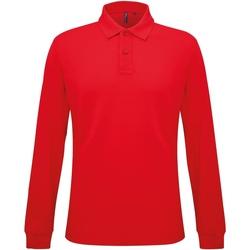 Textiel Heren Polo's lange mouwen Asquith & Fox Classic Klassiek rood