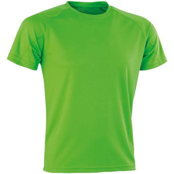 Textiel Heren T-shirts korte mouwen Spiro Aircool Kalk