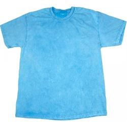 Textiel Heren T-shirts korte mouwen Colortone Mineral Babyblauw