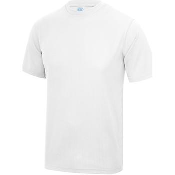 Textiel Heren T-shirts korte mouwen Just Cool Performance Arctisch Wit