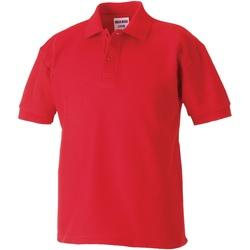 Textiel Jongens Polo's korte mouwen Jerzees Schoolgear 65/35 Helder rood