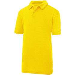 Textiel Kinderen Polo's korte mouwen Awdis JC40J Zonnegeel