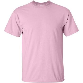 Textiel Heren T-shirts korte mouwen Gildan Ultra Lichtroze