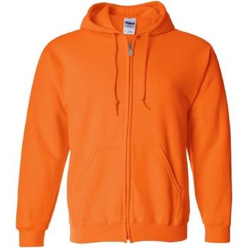 Textiel Heren Sweaters / Sweatshirts Gildan Hooded Veiligheid Oranje
