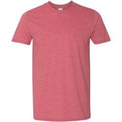Textiel Heren T-shirts korte mouwen Gildan Soft-Style Heide Kardinaal