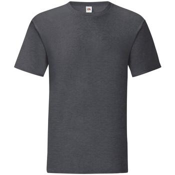 Textiel Heren T-shirts korte mouwen Fruit Of The Loom Iconic Donker Heather