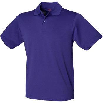 Textiel Heren Polo's korte mouwen Henbury HB475 Helder paars