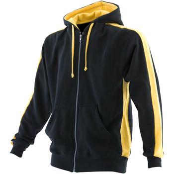 Textiel Heren Sweaters / Sweatshirts Finden & Hales Hooded Zwart/Geel