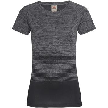 Textiel Dames T-shirts korte mouwen Stedman Active Donkergrijze Overgang