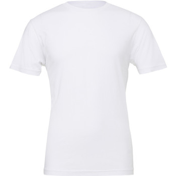 Textiel Heren T-shirts korte mouwen Bella + Canvas Jersey Wit
