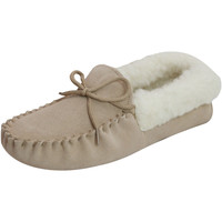 Schoenen Dames Sloffen Eastern Counties Leather Moccasin Kameel