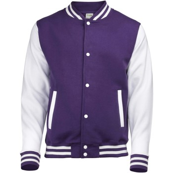 Textiel Kinderen Wind jackets Awdis Varsity Paars/Wit