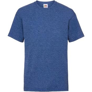 Textiel Kinderen T-shirts korte mouwen Fruit Of The Loom 61033 Retro Heather Royaal Blauw