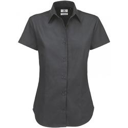 Textiel Dames Overhemden B And C Sharp Donker Grijs