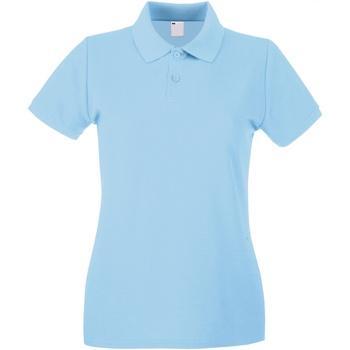 Textiel Dames Polo's korte mouwen Universal Textiles Casual Lichtblauw