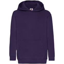 Textiel Kinderen Sweaters / Sweatshirts Fruit Of The Loom Hooded Paars