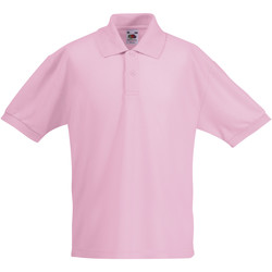 Textiel Kinderen Polo's korte mouwen Fruit Of The Loom Pique Licht Roze