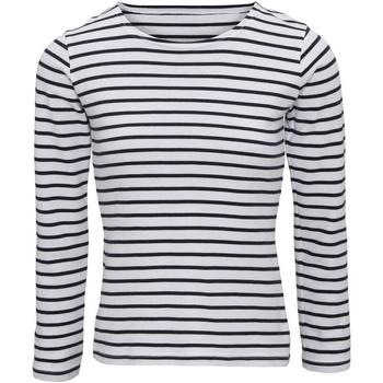 Textiel Dames T-shirts met lange mouwen Asquith & Fox Mariniere Wit/Zwaar