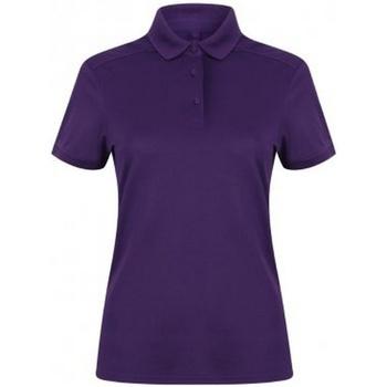 Textiel Dames Polo's korte mouwen Henbury HB461 Helder paars