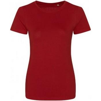 Textiel Dames T-shirts korte mouwen Ecologie Organic Vuurrood
