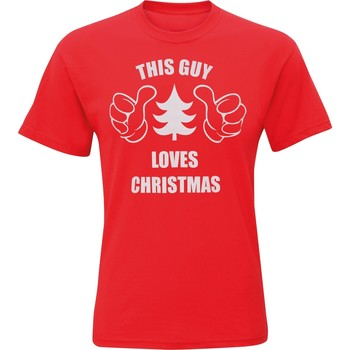 Textiel Heren T-shirts korte mouwen Christmas Shop Christmas Rood
