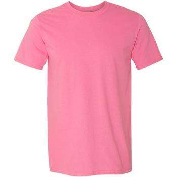 Textiel Heren T-shirts korte mouwen Gildan Soft-Style Azalea