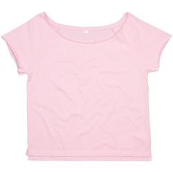 Textiel Dames T-shirts korte mouwen Mantis Dance Zacht Roze