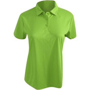 Textiel Dames Polo's korte mouwen Awdis Girlie Kalk groen