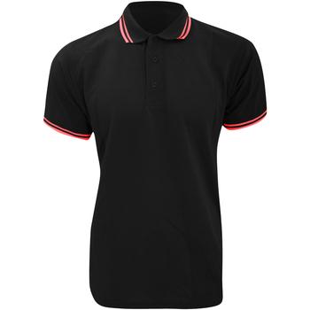 Textiel Heren Polo's korte mouwen Kustom Kit KK409 Zwart/Rood