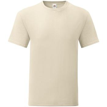Textiel Heren T-shirts korte mouwen Fruit Of The Loom Iconic Naturel