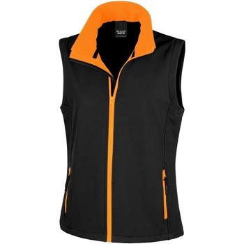 Textiel Dames Vesten / Cardigans Result Printable Zwart / Oranje