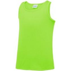 Textiel Kinderen Mouwloze tops Awdis Just Cool Elektrisch Groen